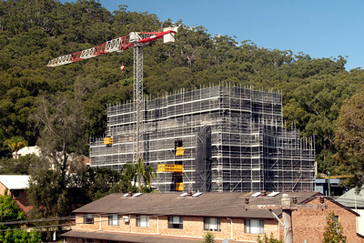 Construction update. Now working on top floor on new Units in Gosford at 56-58 Beane St. April 27, 2021. Part of a Series