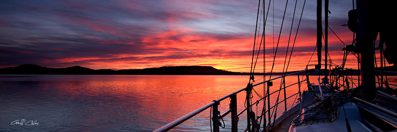 Nautical Sailboat Sunrise.