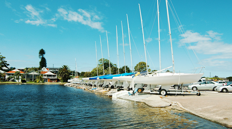 Sailboats at Belmont Sailing Club Marina