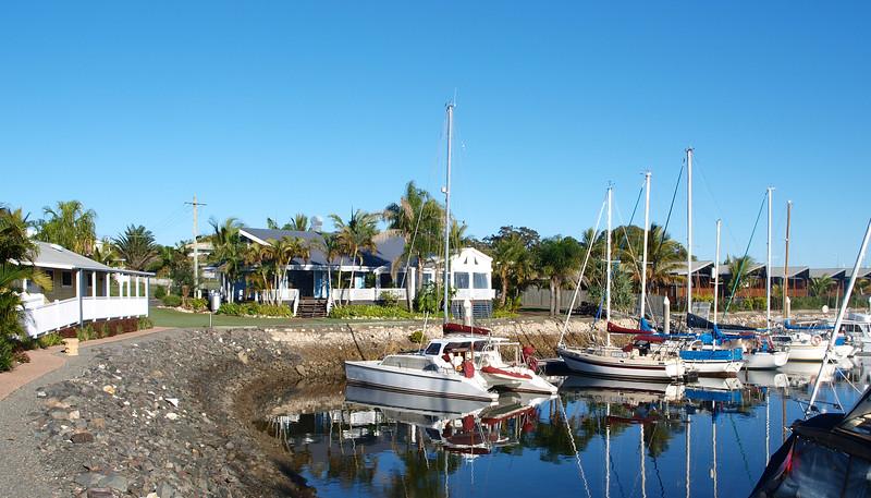 Tropical Marina Landscape View. Tin Can Bay.