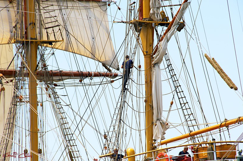 Tall Ship Europa Rigging.