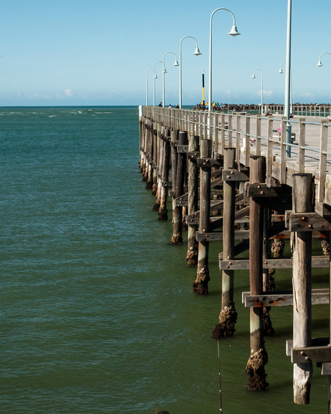 Historic timber Waterfront maritime jetty/dock.