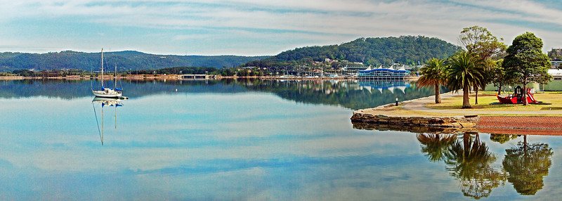Gosford waterfront nautical marine waterscape image.