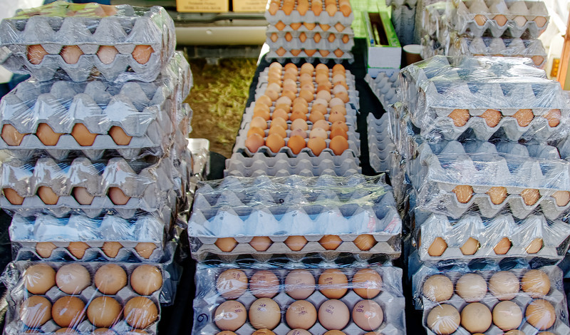 Fresh Farm Eggs displaed for sale