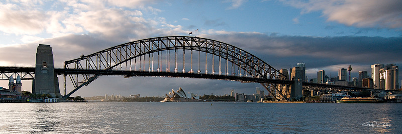 Sydney Harbour Bridge at Dawn.  Art photo digital download .