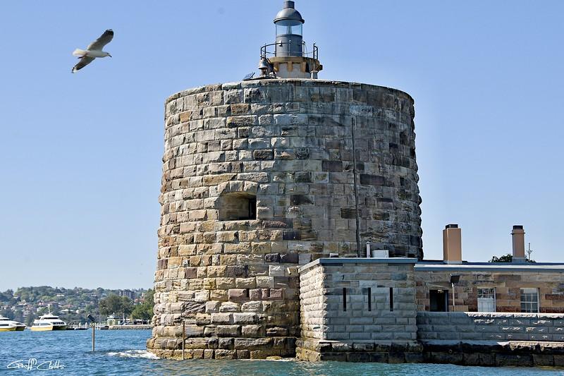 "Fort Denison, in Sydney Harbour also known as ""Pinchgut Island"". Original photo art."