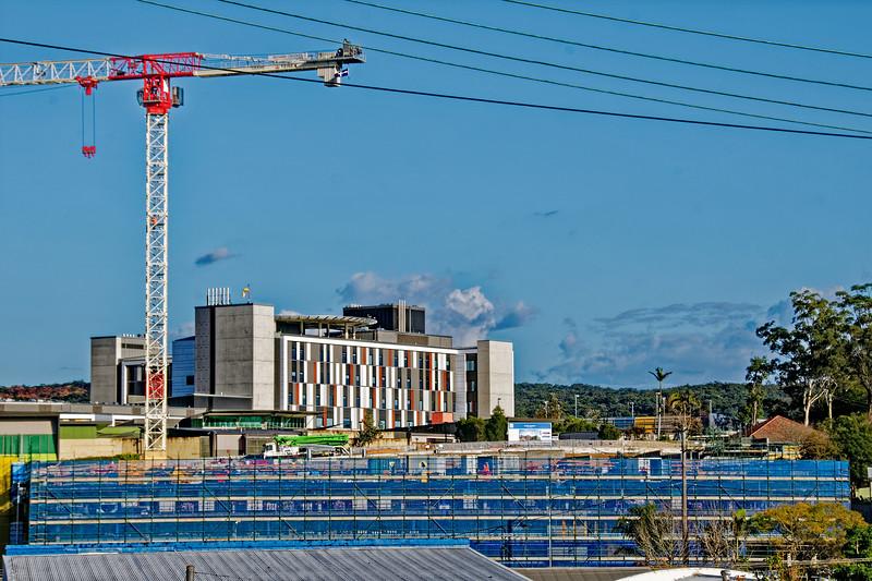 Gosford Hospital building progress  September 2018.   (h25ed)