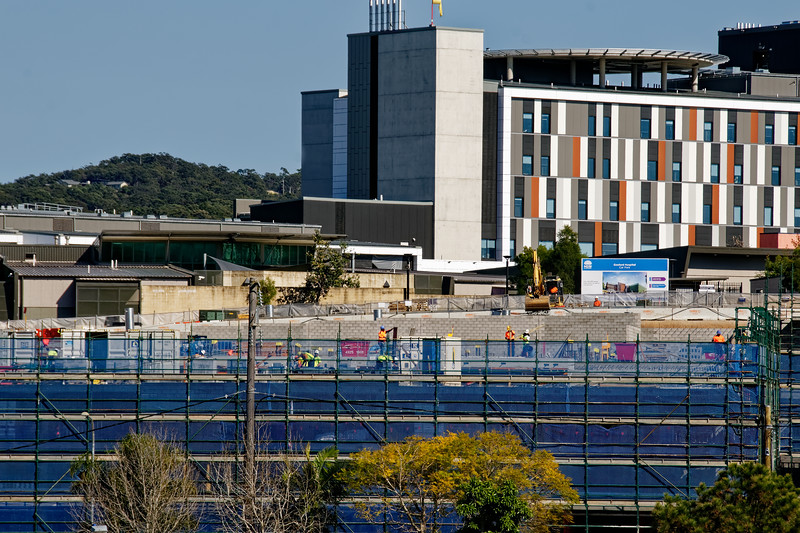 Gosford Hospital building progress H29ed September 2018.