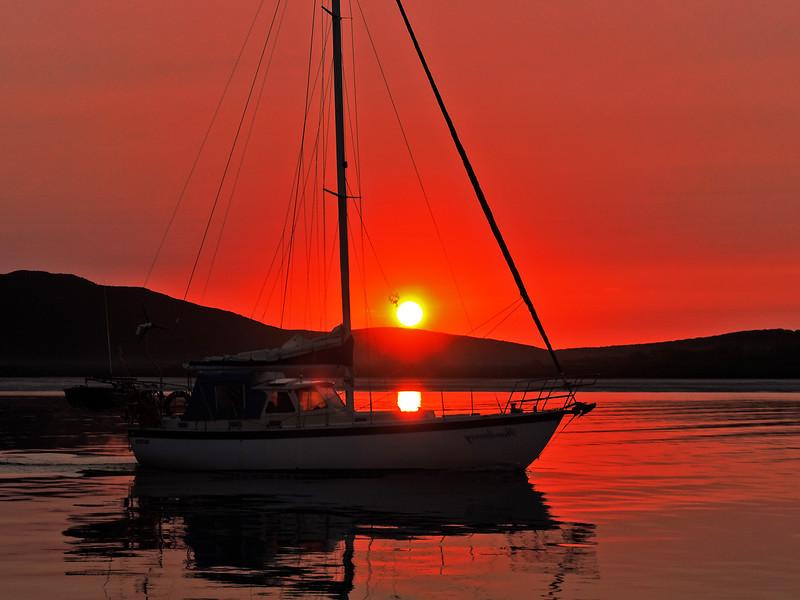 Nautical crimson sunrise seascape... in Sunrise gallery.