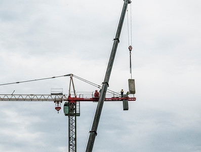 Erecting a Tower Crane. #38. of a 33+ Shot Photo series.
