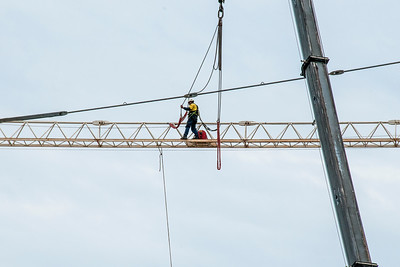 Erecting a Tower Crane. #37. of a 33+ Shot Photo series.