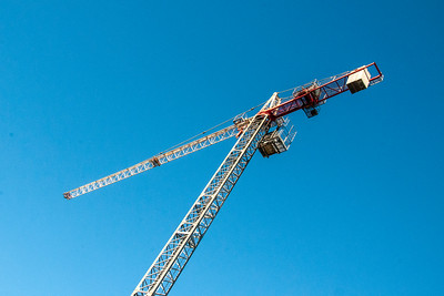 Erecting a Tower Crane. #43. of a 33+ Shot Photo series.
