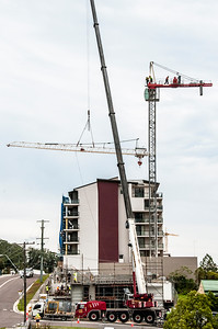 Erecting a Tower Crane. #25. of a 33+ Shot Photo series.