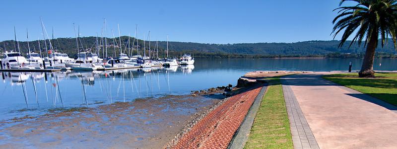 Waterfront maritime marina/dock.