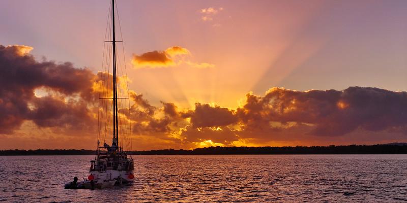 Orange Sunrise Seascape.