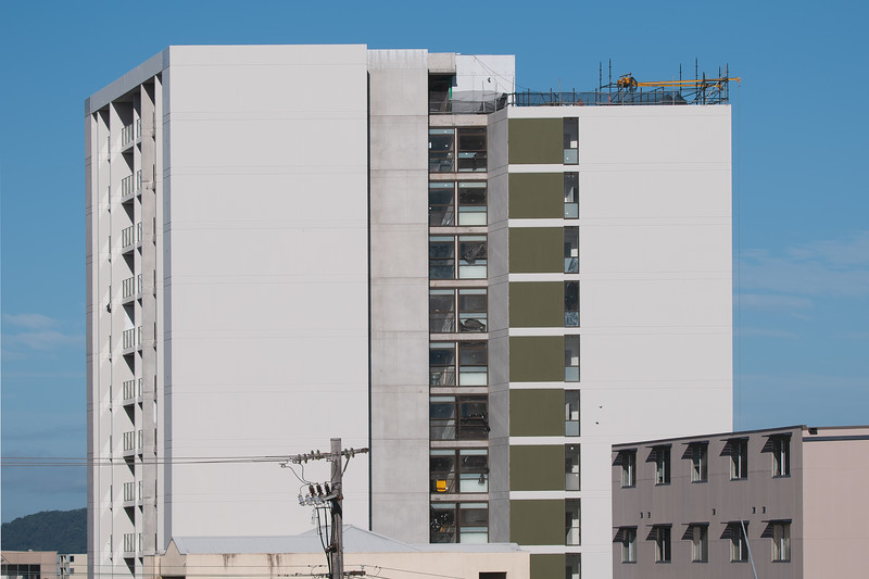 Building series. Progress on the new Multistory Unit building under construction at 277 Mann St. Gosford. MAY 27, 2020.