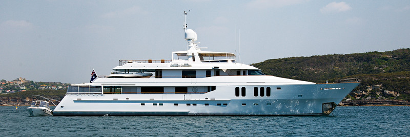 Super luxury 45mtr motor yacht in Sydney Harbour, Australia