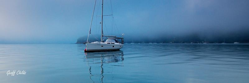 Misty Blue Boat.