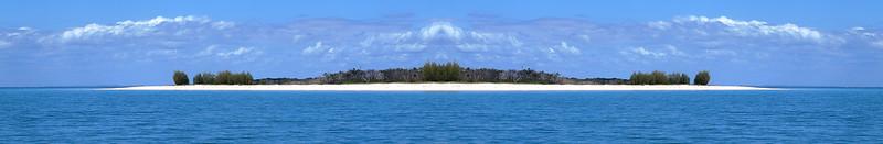 Tropical Island Seascape Panorama.
