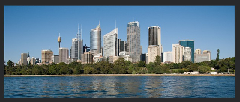Sydney CBD viewed from the water.
