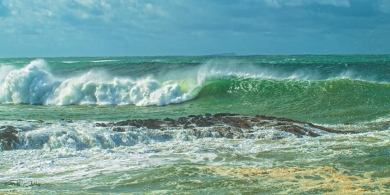 Breaking Surf Seascape.