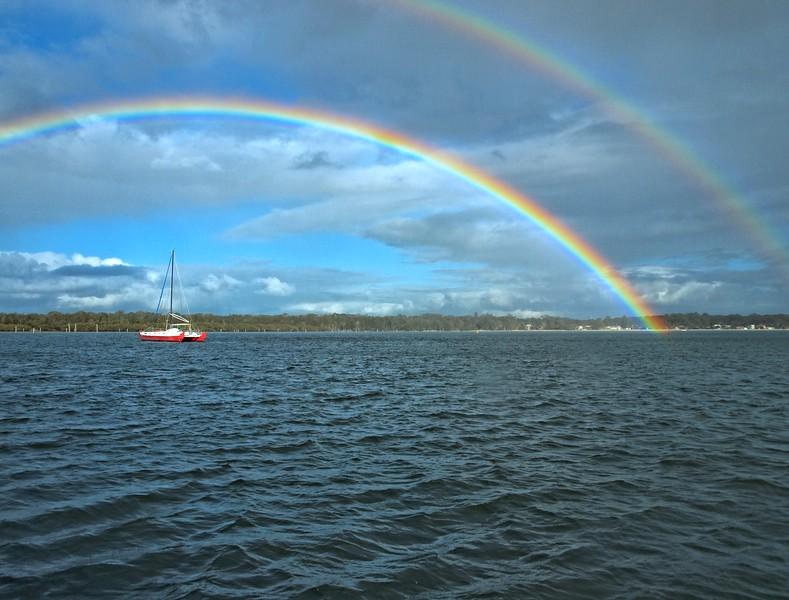 Double Rainbow. Salamander Bay, Port Stephens.
