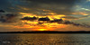 Golden Waterscape Sunrise Tin Can