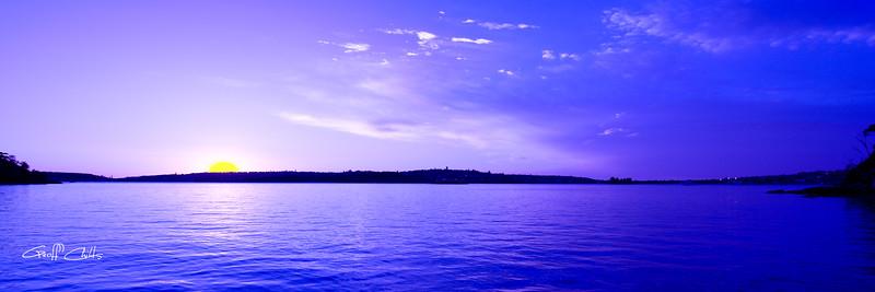 True Blue Sunrise. Art photo digital download and wallpaper screensaver. DIY Print.