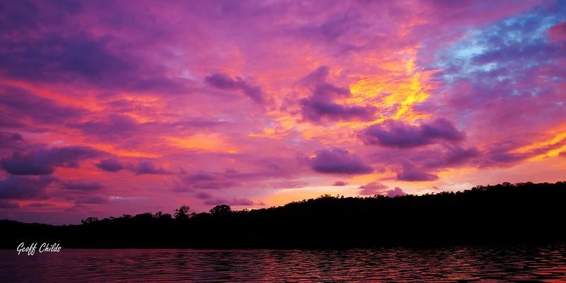 Multi Coloured Ocean Sunrise. Art photo digital download and wallpaper screensaver.DIY Designer Print.