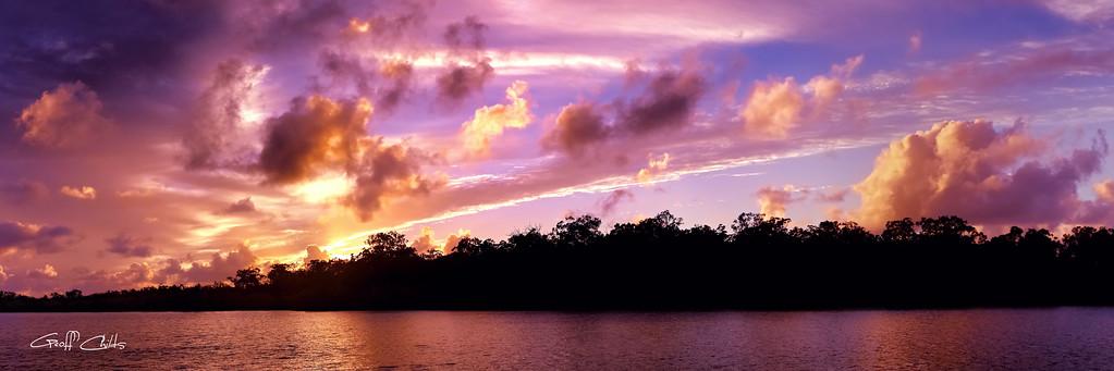 Colorful Nautical Sunrise, Art  photo download and wallpaper screensaver. DIY Print.