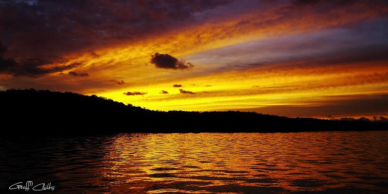 Golden Island Sunrise.