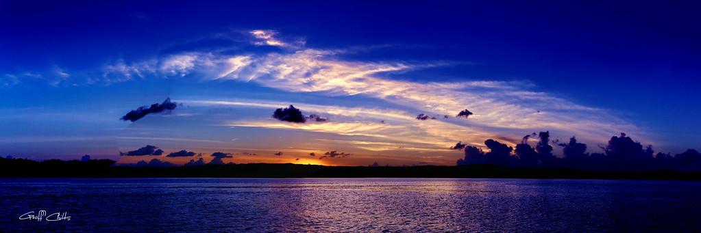 Blue Sunrise Cloudscape.
