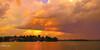 Orange Storm Sunset.  Art photo digital download and wallpaper screensaver. DIY Designer Print.  XSDP3170.