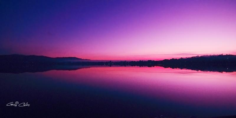 Purple and Pink Sunrise.  Art photo digital download and wallpaper screensaver. DIY Designer Print.