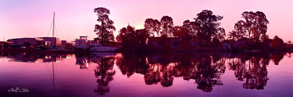 Colorful Sunrise Reflections, Art  photo download and wallpaper screensaver. DIY Print.