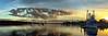 Fishing Trawler at Dawn. Art photo digital download and wallpaper screensaver. DIY Print.