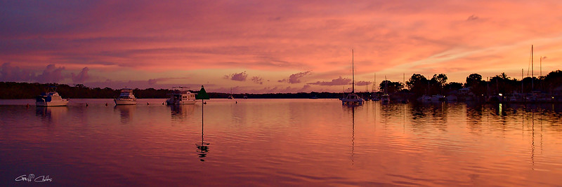 Salmon Sunrise Seascape.