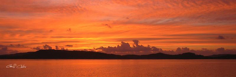Pale Orange Sunrise.  Art photo digital download and wallpaper screensaver. DIY Designer Print.