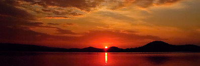 Beautiful Heaven - crimson and gold Sunrise Panorama.