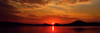 Beautiful Heaven - crimson and gold Sunrise Panorama. DIY Print.
