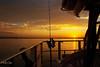 Golden Sunset at Sea from Boat... Original photo Art digital download and wallpaper screensaver. DIY designer Print.