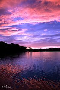 Vivid Pink Sunset. Exclusive Original stock.
