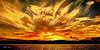 Flames of Gold Sunrise. Art photo digital download and wallpaper screensaver. DIY Print.