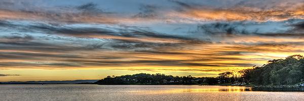 Nautical Golden Glow Cloud Sunset. Photo Art, Prints, Gifts, and Apparel.
