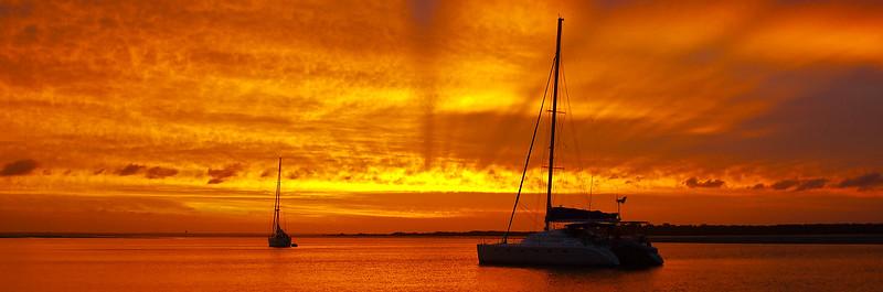 Golden Sunset over lake