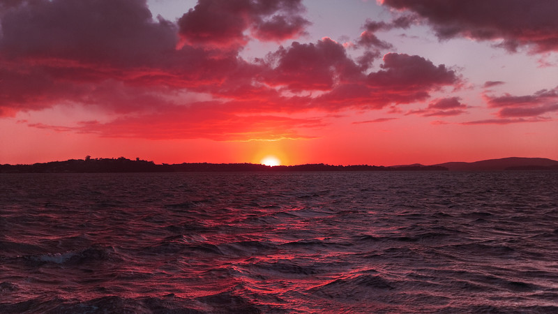 Crimson  Eye - Coastal Sunset.  Art photo digital download and wallpaper screensaver. DIY Print.