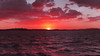 Crimson  Eye - Coastal Sunset.  Art photo digital download and wallpaper screensaver. DIY Print.