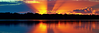Orange Rays Sunrise Panorama.  PhotoArt, Downloads, Prints, Gifts, and Apparel.