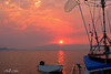 Salmon Sunset Seascape.. Exclusive Original stock Photo Art digital download. DIY Designer Print.