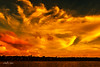 Gold Ocean Sky  -  Art photo digital download and wallpaper screensaver. DIY Print.
